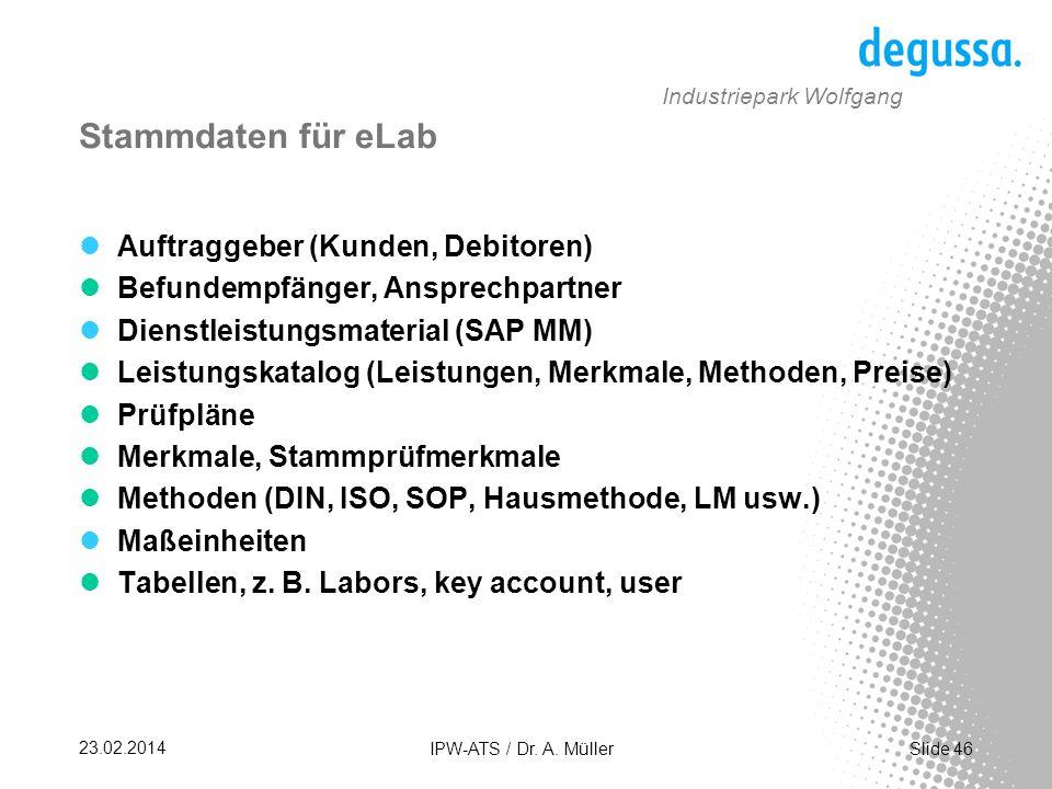 Slide 46 23.02.2014 IPW-ATS / Dr.A.