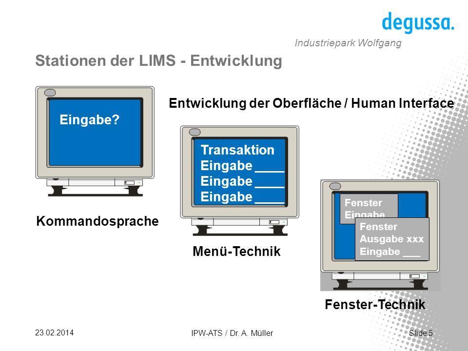 Slide 26 23.02.2014 IPW-ATS / Dr. A. Müller Industriepark Wolfgang