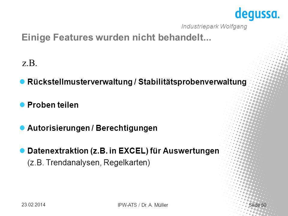Slide 50 23.02.2014 IPW-ATS / Dr.A.
