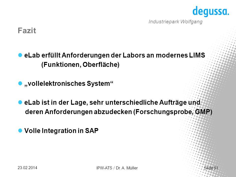 Slide 51 23.02.2014 IPW-ATS / Dr.A.