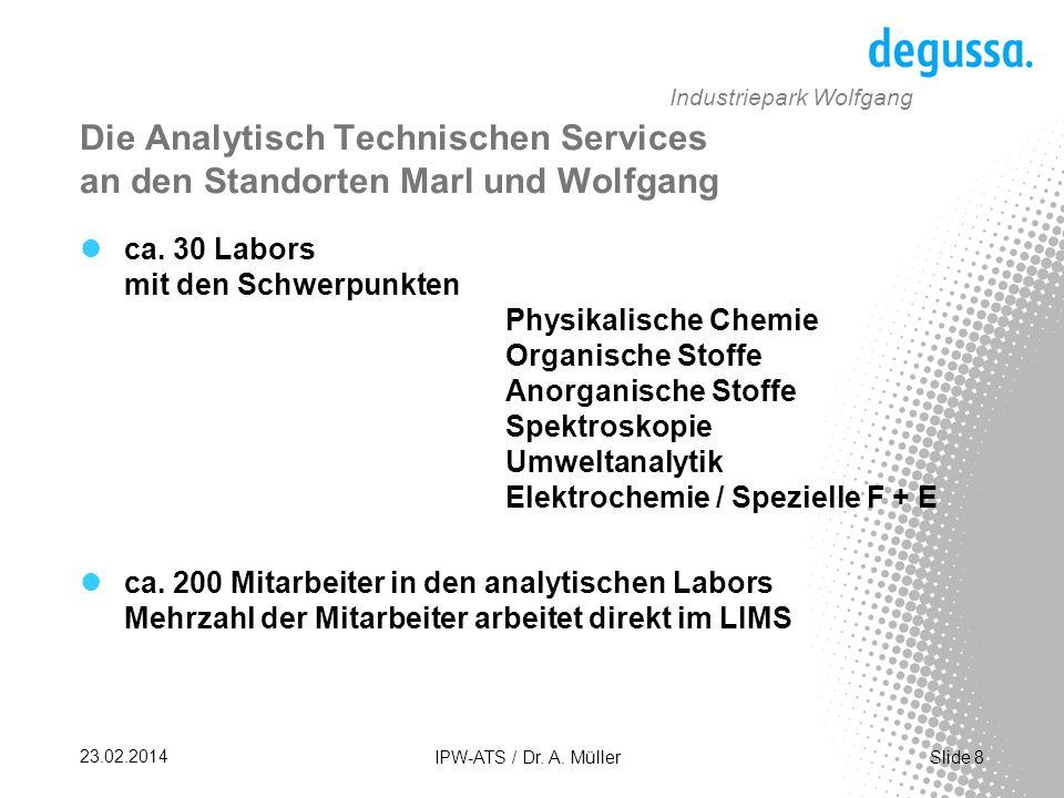Slide 19 23.02.2014 IPW-ATS / Dr. A. Müller Industriepark Wolfgang