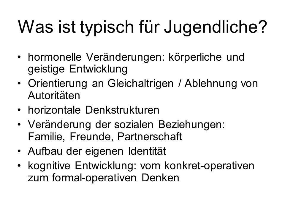 formal-operatives Denken Ebenen der geistigen Entwicklung nach Jean PIAGET : - konkret-operative Denken: 6 bis 10 Jahre - formal-operative Denken: ab ca.