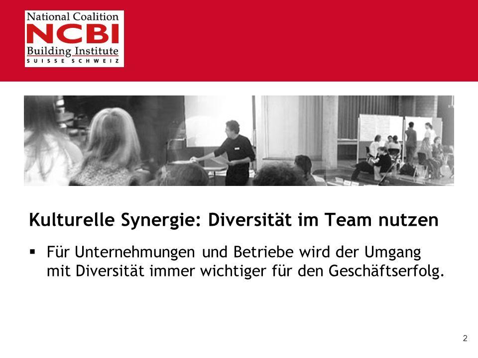 2 Kulturelle Synergie: Diversität im Team nutzen. Für Unternehmungen und Betriebe wird der Umgang mit Diversität immer wichtiger für den Geschäftserfo
