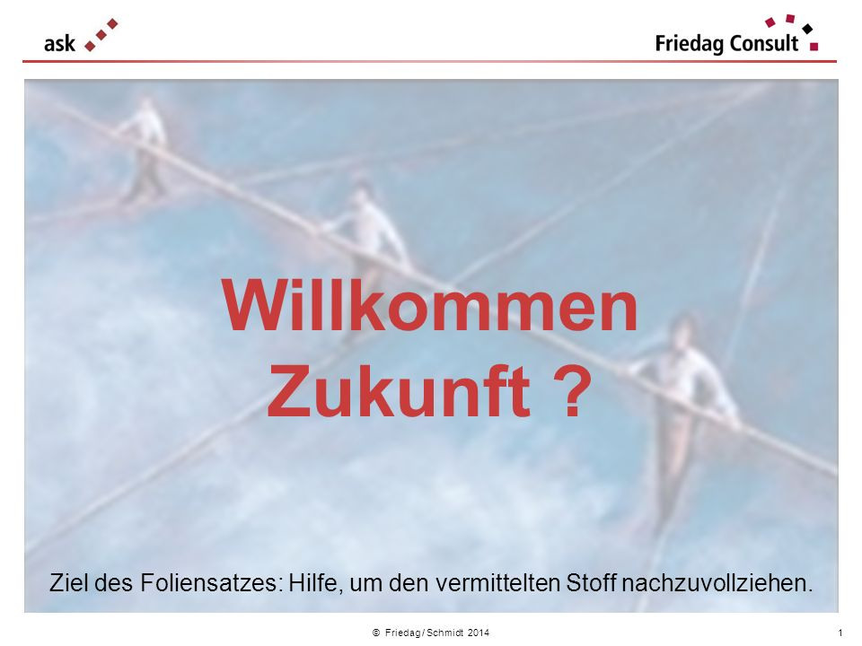 © Friedag / Schmidt 2014 Eine Kennzahl für das Unternehmen Woran wollen wir messen, dass wir unser Leitziel erreicht haben .
