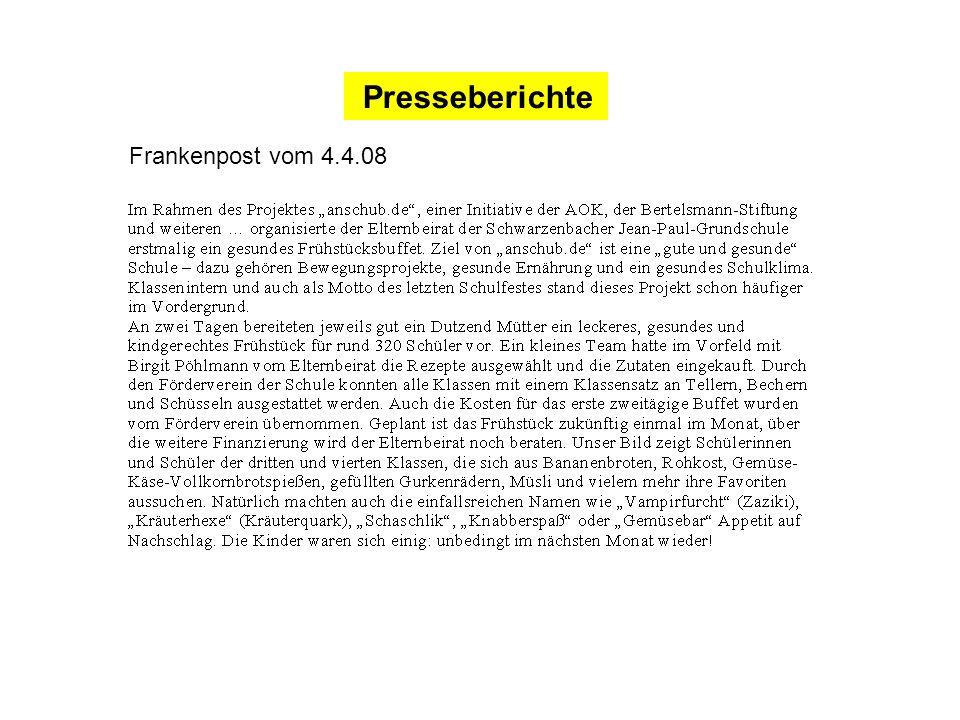 Presseberichte Frankenpost vom 4.4.08