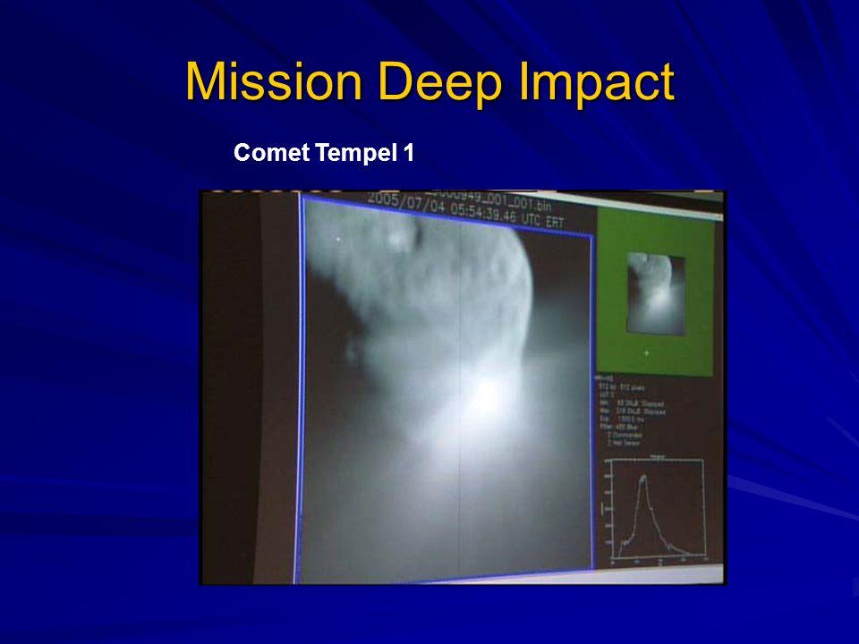 Mission Deep Impact Comet Tempel 1