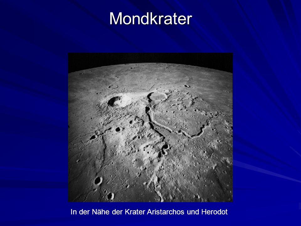 Mondkrater In der Nähe der Krater Aristarchos und Herodot