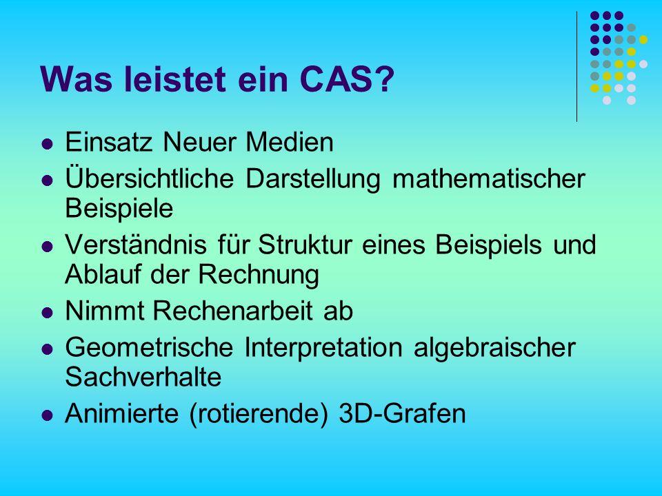 Was leistet ein CAS.