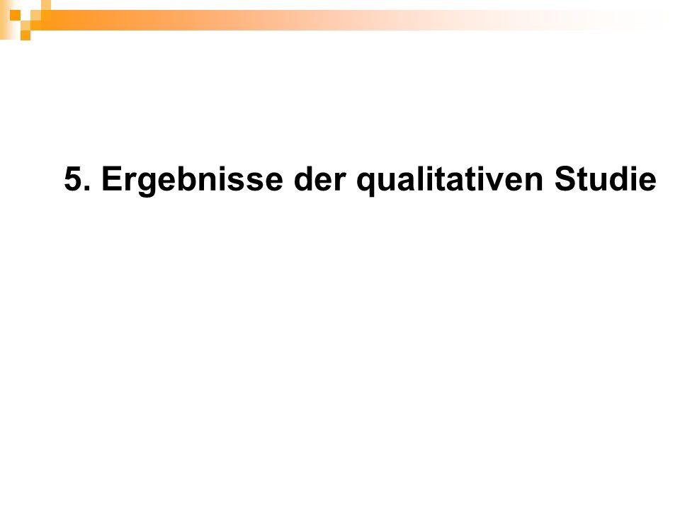 5. Ergebnisse der qualitativen Studie