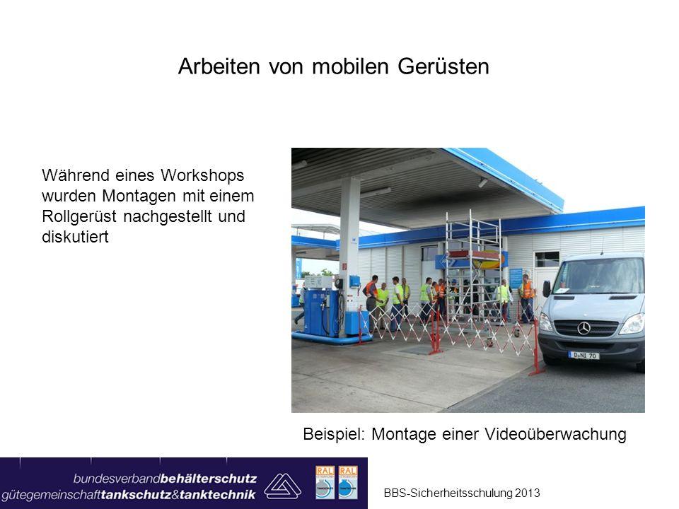 BBS-Sicherheitsschulung 2013 Arbeiten von mobilen Gerüsten Positiv-Beispiel: Rollgerüst mit Ausleger