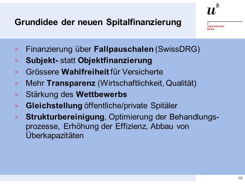Grundidee der neuen Spitalfinanzierung > Finanzierung über Fallpauschalen (SwissDRG) > Subjekt- statt Objektfinanzierung > Grössere Wahlfreiheit für V