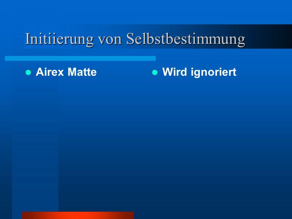 Initiierung von Selbstbestimmung Airex Matte Wird ignoriert