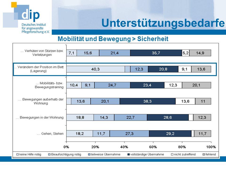 Mobilität und Bewegung > Sicherheit Unterstützungsbedarfe