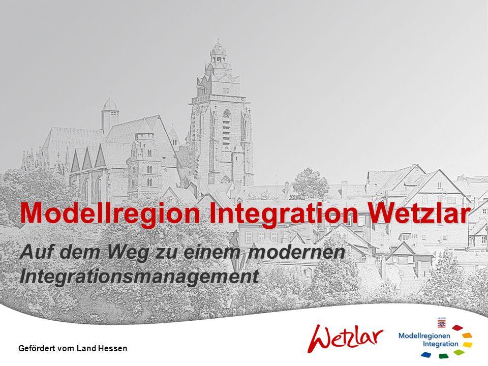 Rahmen Einrichtung Projektkoordination Integration Integrationsworkshops mit strategischen Partnern aus der Region Vertiefung der Diskussion in Fachforen zu den verschiedenen Handlungsfeldern Erarbeitung eines integrierten Handlungskonzeptes zum Integrationsmanagement Vorbereitung der parlamentarische Beschlussfassung