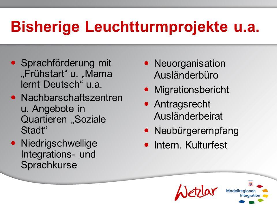 Kriterien / Monitoring Bisher: Migrationsbericht 2008, Verteilung im Sozialraum u.