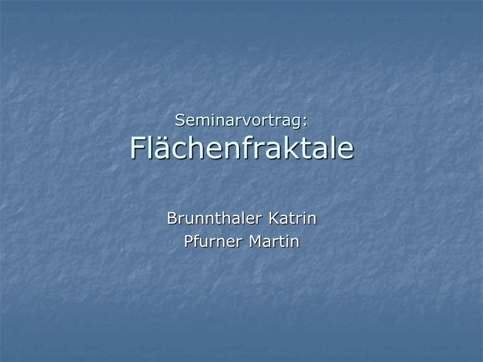 Seminarvortrag: Flächenfraktale Brunnthaler Katrin Pfurner Martin