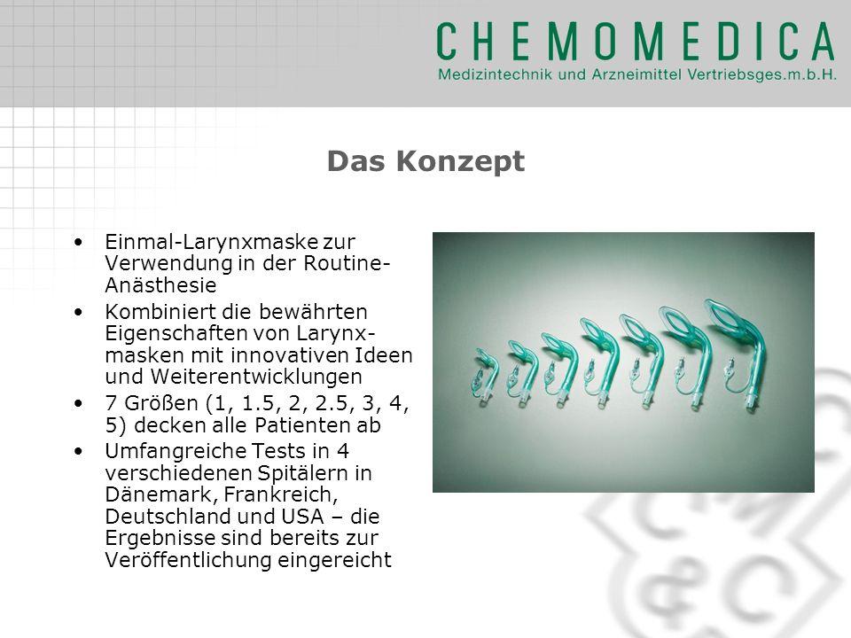 Das Konzept Einmal-Larynxmaske zur Verwendung in der Routine- Anästhesie Kombiniert die bewährten Eigenschaften von Larynx- masken mit innovativen Ide