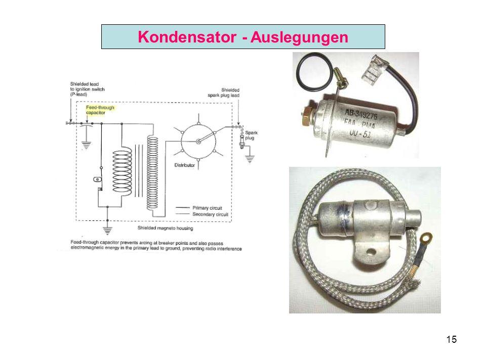 15 Kondensator - Auslegungen