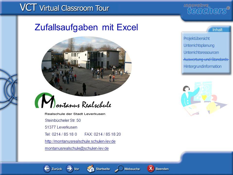 Über Schule und Lehrer Steinbücheler Str. 50 51377 Leverkusen Tel: 0214 / 85 18 0 FAX: 0214 / 85 18 20 http://montanusrealschule.schulen-lev.de montan