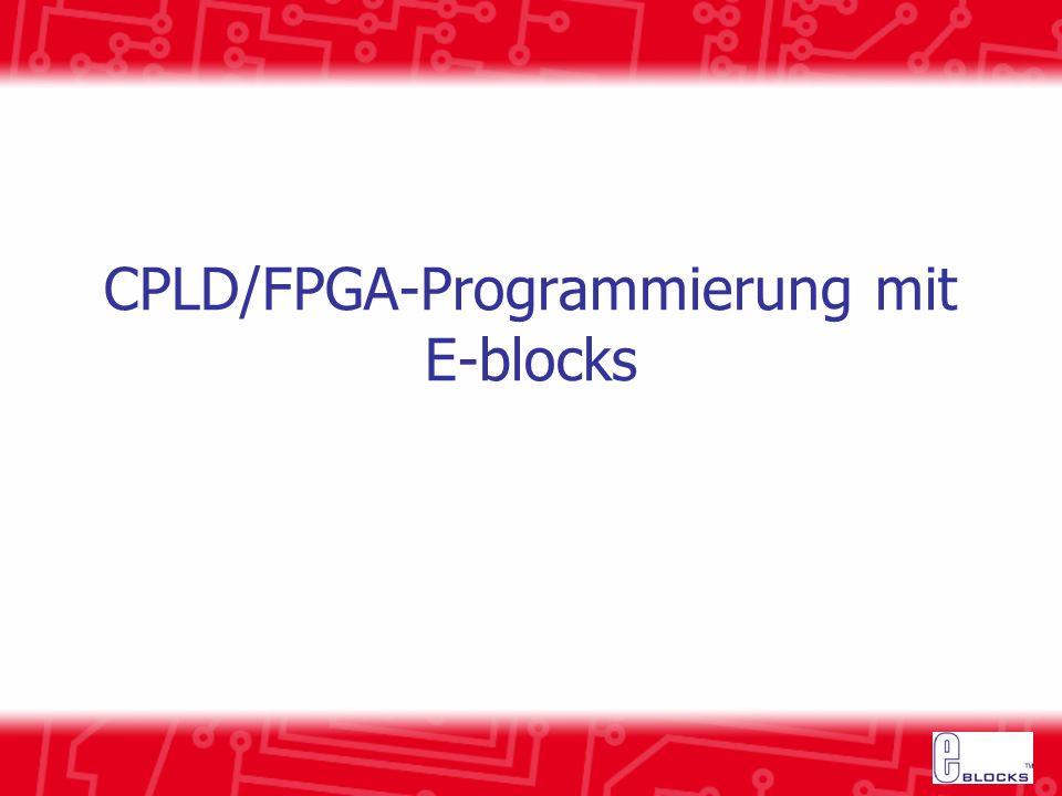 CPLD/FPGA-Programmierung mit E-blocks