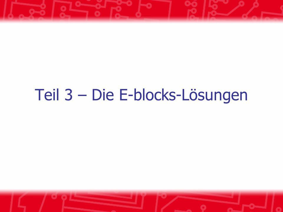 Teil 3 – Die E-blocks-Lösungen