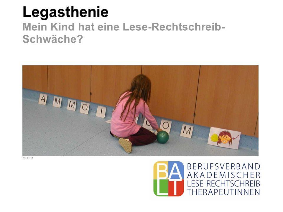 Legasthenie Mein Kind hat eine Lese-Rechtschreib- Schwäche? Foto: Schwarz