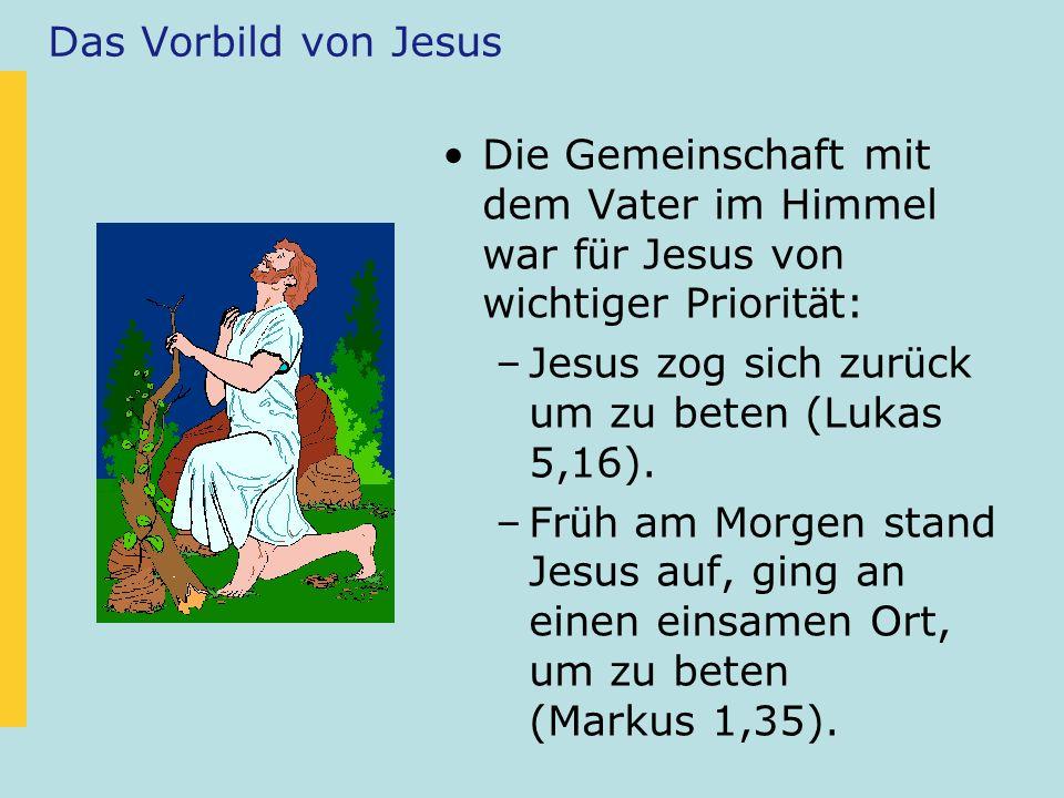 Jesus betete...