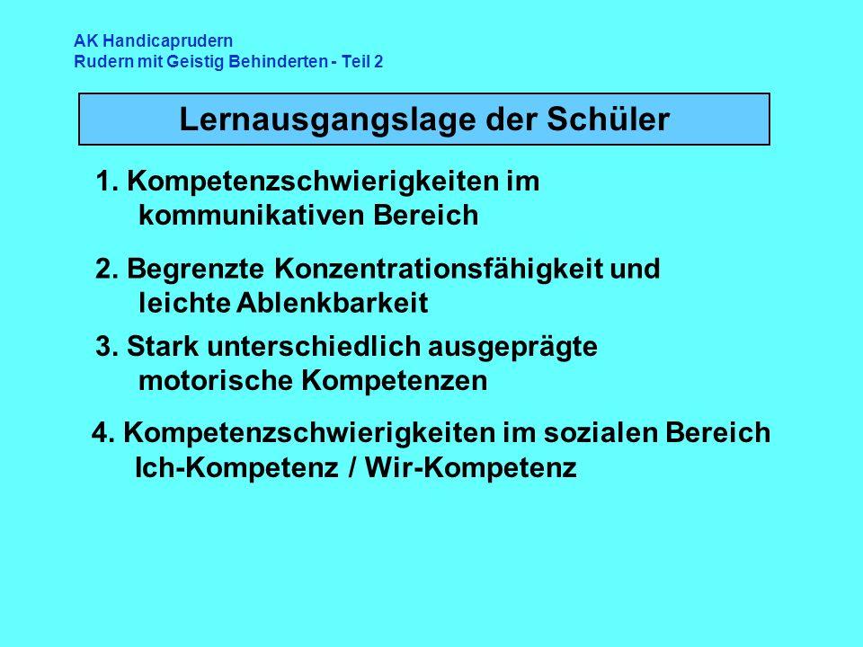 AK Handicaprudern Rudern mit Geistig Behinderten - Teil 2 Lernausgangslage der Schüler 4.