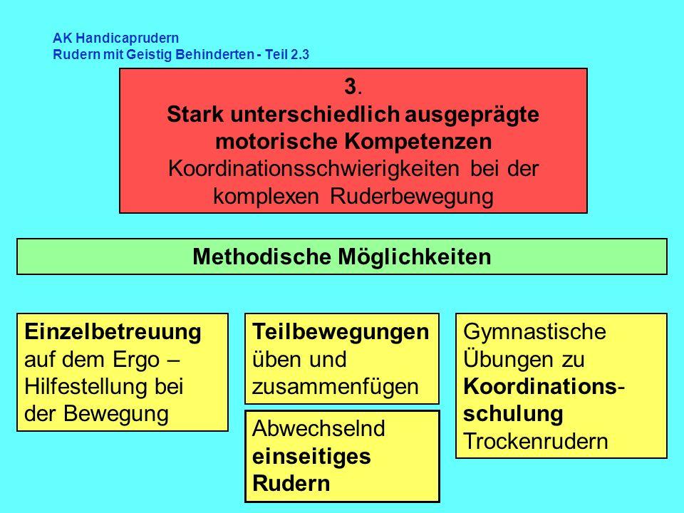 AK Handicaprudern Rudern mit Geistig Behinderten - Teil 2.3 Methodische Möglichkeiten 3.