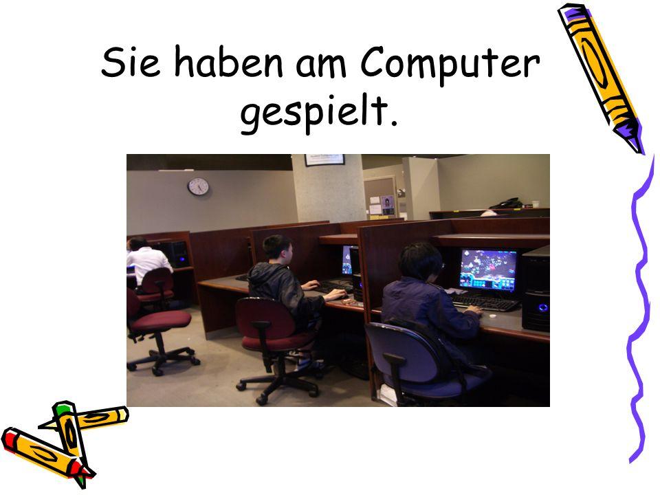 Sie haben am Computer gespielt.