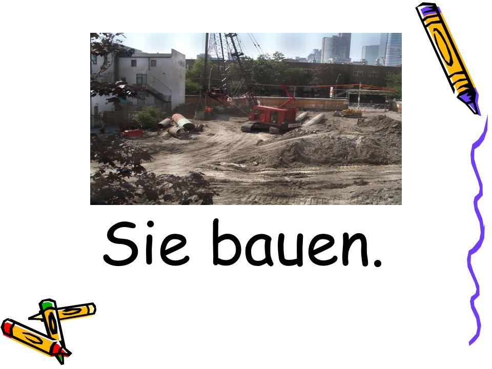 Sie bauen.