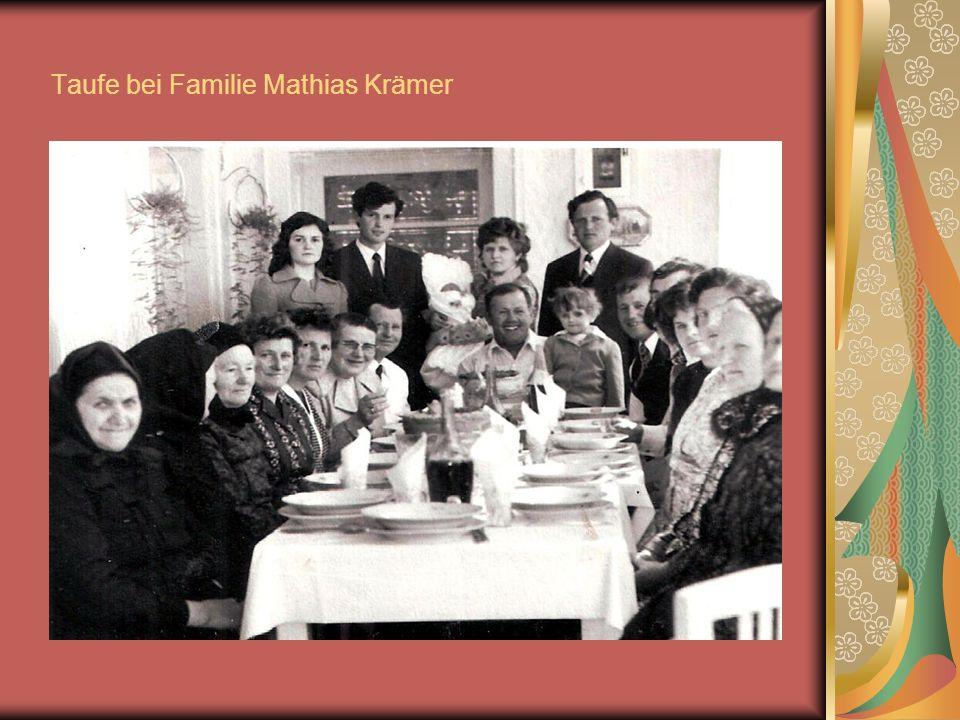 Taufe bei Familie Mathias Krämer