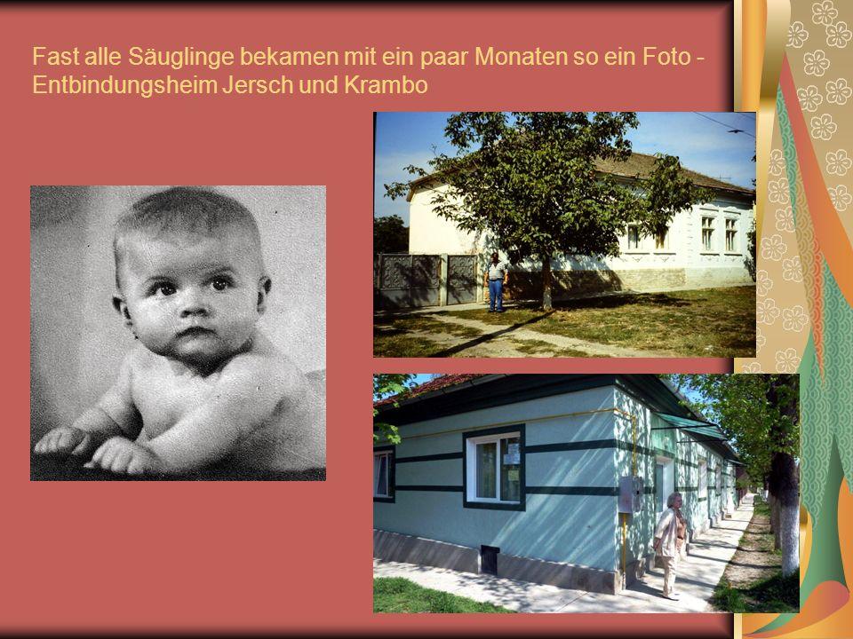 Fast alle Säuglinge bekamen mit ein paar Monaten so ein Foto - Entbindungsheim Jersch und Krambo