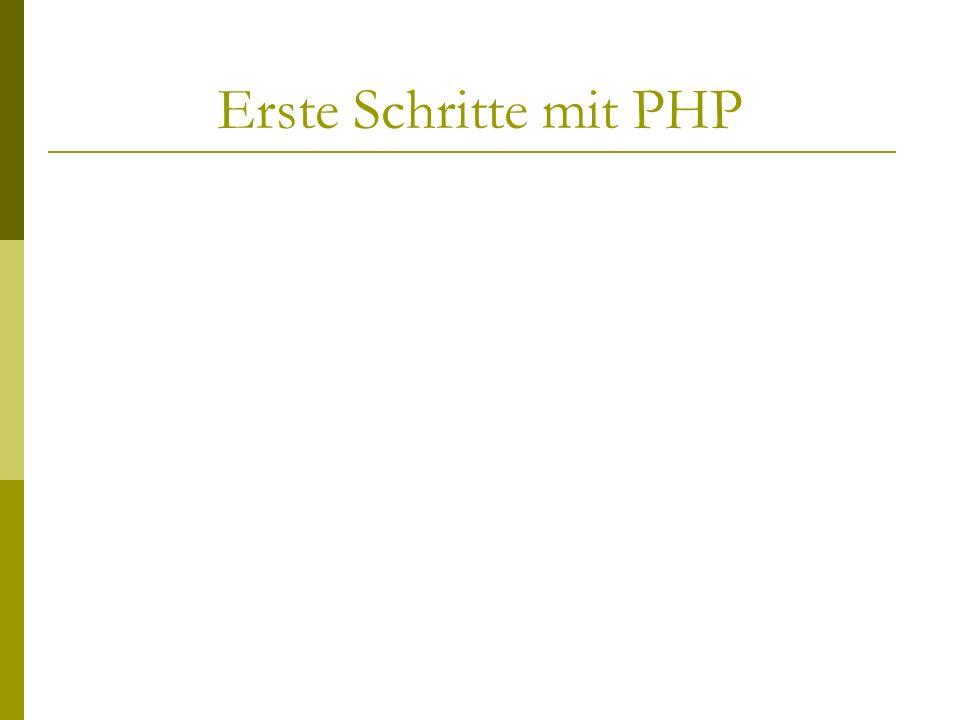 Erste Schritte mit PHP