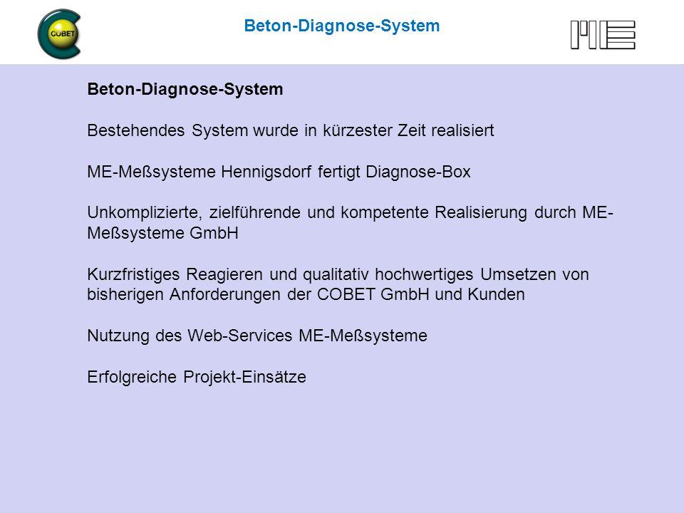Beton-Diagnose mit COBET … und mehr 6.5.2009 Hennigsdorf Beton-Diagnose-System Kosten für ggf.
