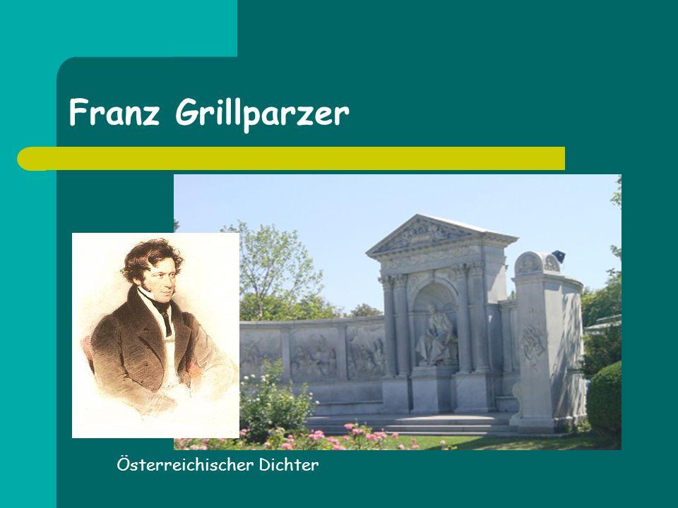 Franz Grillparzer Österreichischer Dichter