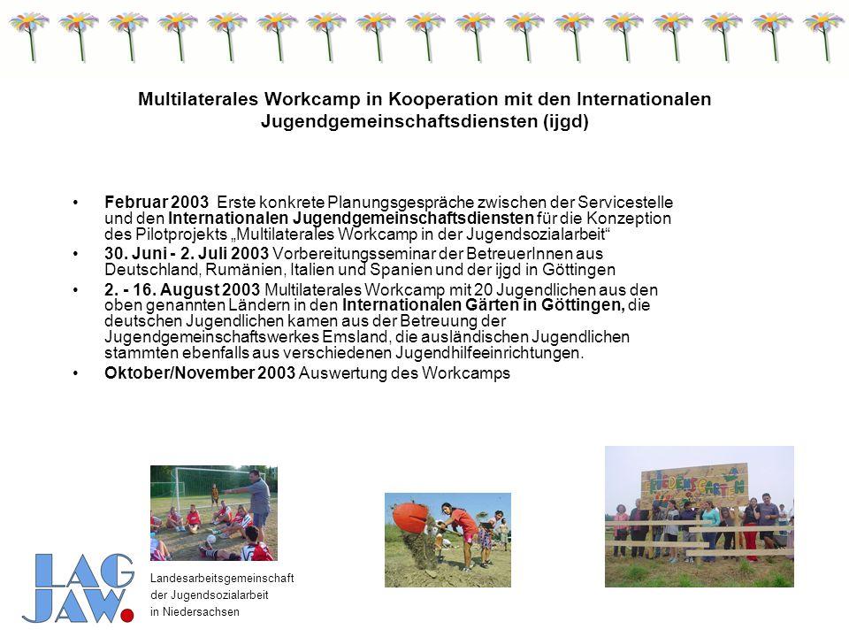 Landesarbeitsgemeinschaft der Jugendsozialarbeit in Niedersachsen Fachkräfteaustausch 2008 Interkultureller Dialog als Mittel gegen soziale Ausgrenzung 6.-10.