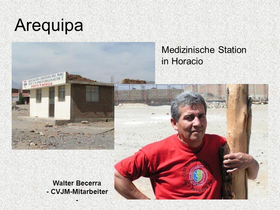 Arequipa Walter Becerra - CVJM-Mitarbeiter - Medizinische Station in Horacio