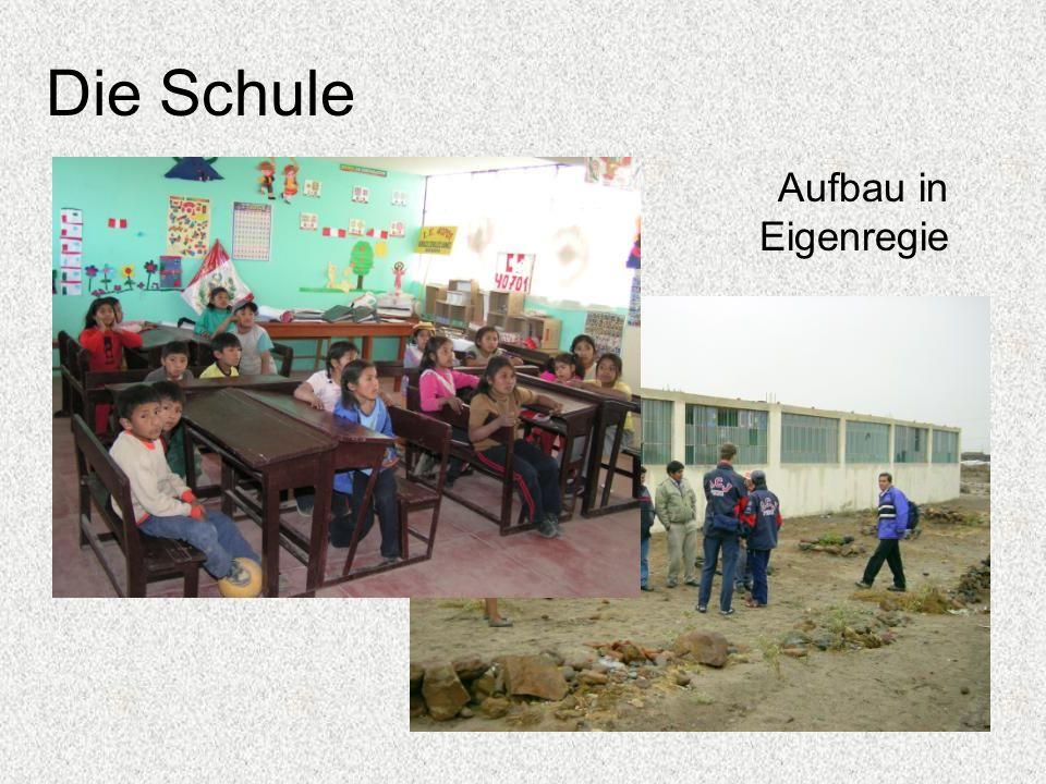 Die Schule Aufbau in Eigenregie