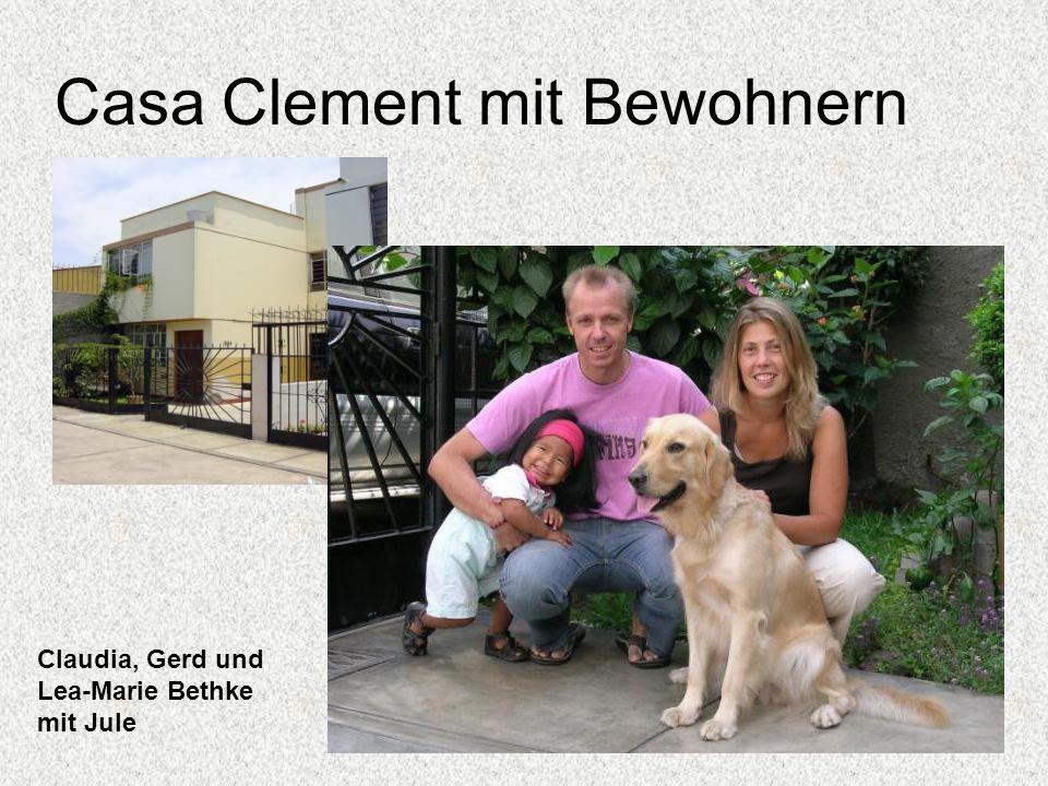 Casa Clement mit Bewohnern Claudia, Gerd und Lea-Marie Bethke mit Jule