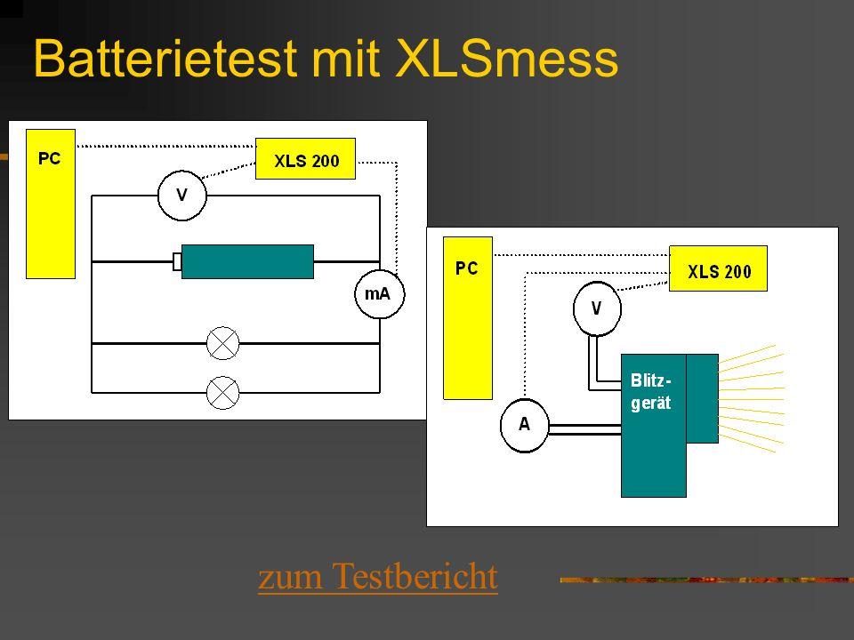 Batterietest mit XLSmess zum Testbericht