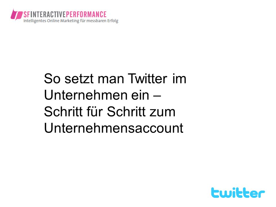 Ein Webinar über Twitter. Darum gibt es keine wirklichen Folien – nur Tweets. Dazu später mehr.