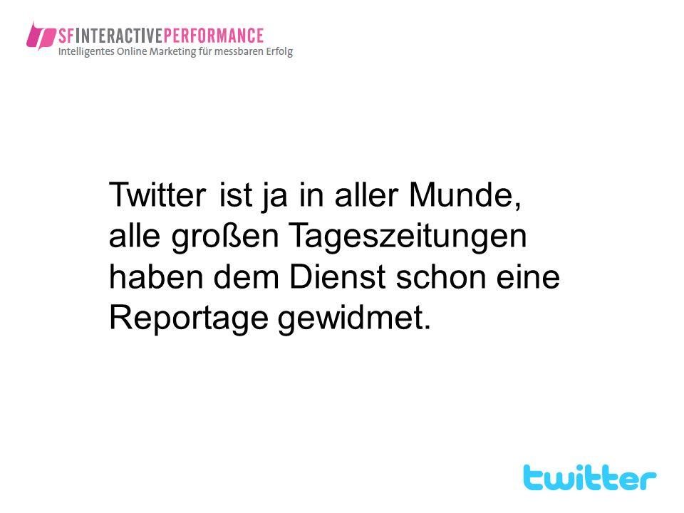 …verlinken Sie Ihren Twitter Account auch in anderen Social Networks, die Sie aktiv nutzen.