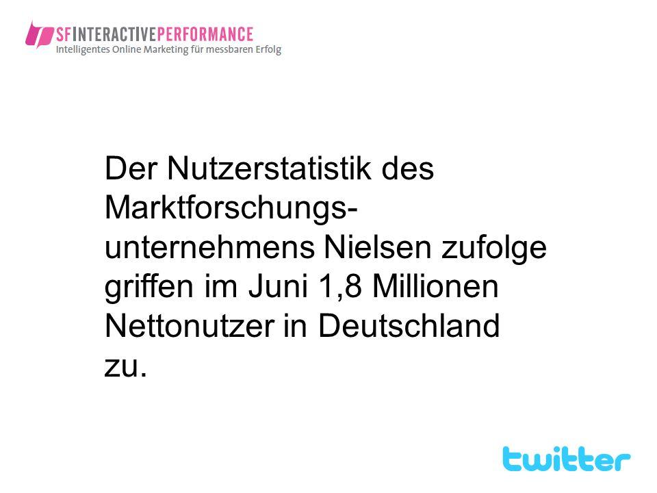Der Nutzerstatistik des Marktforschungs- unternehmens Nielsen zufolge griffen im Juni 1,8 Millionen Nettonutzer in Deutschland zu.