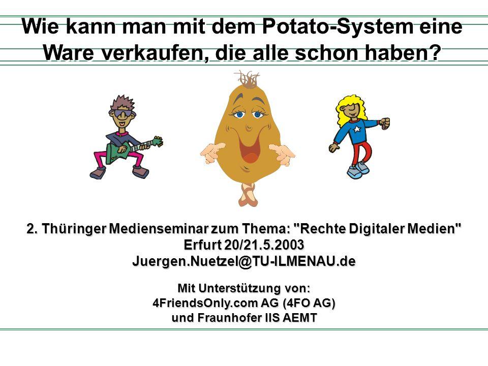 Mit Unterstützung von: 4FriendsOnly.com AG (4FO AG) und Fraunhofer IIS AEMT Wie kann man mit dem Potato-System eine Ware verkaufen, die alle schon hab