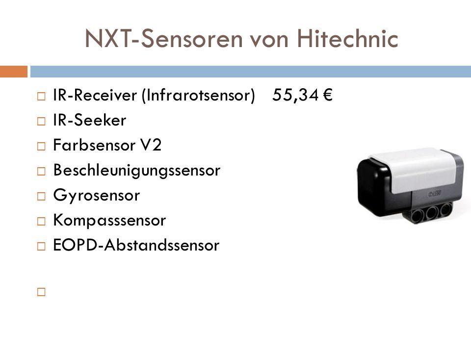 NXT-Sensoren von Hitechnic IR-Receiver (Infrarotsensor)55,34 IR-Seeker Farbsensor V2 Beschleunigungssensor Gyrosensor Kompasssensor EOPD-Abstandssenso