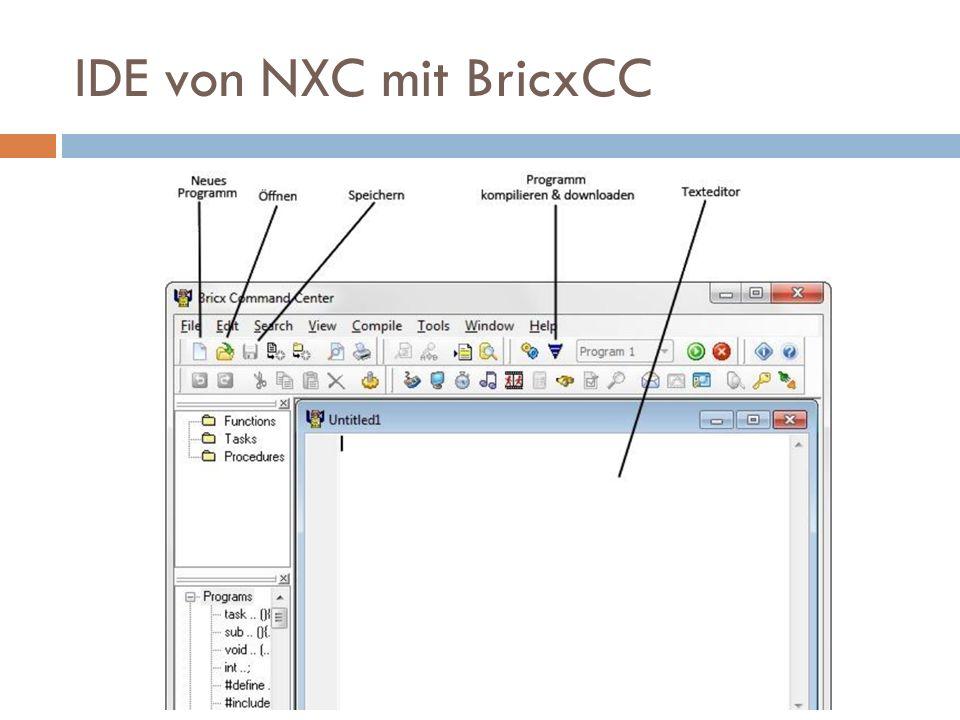 IDE von NXC mit BricxCC