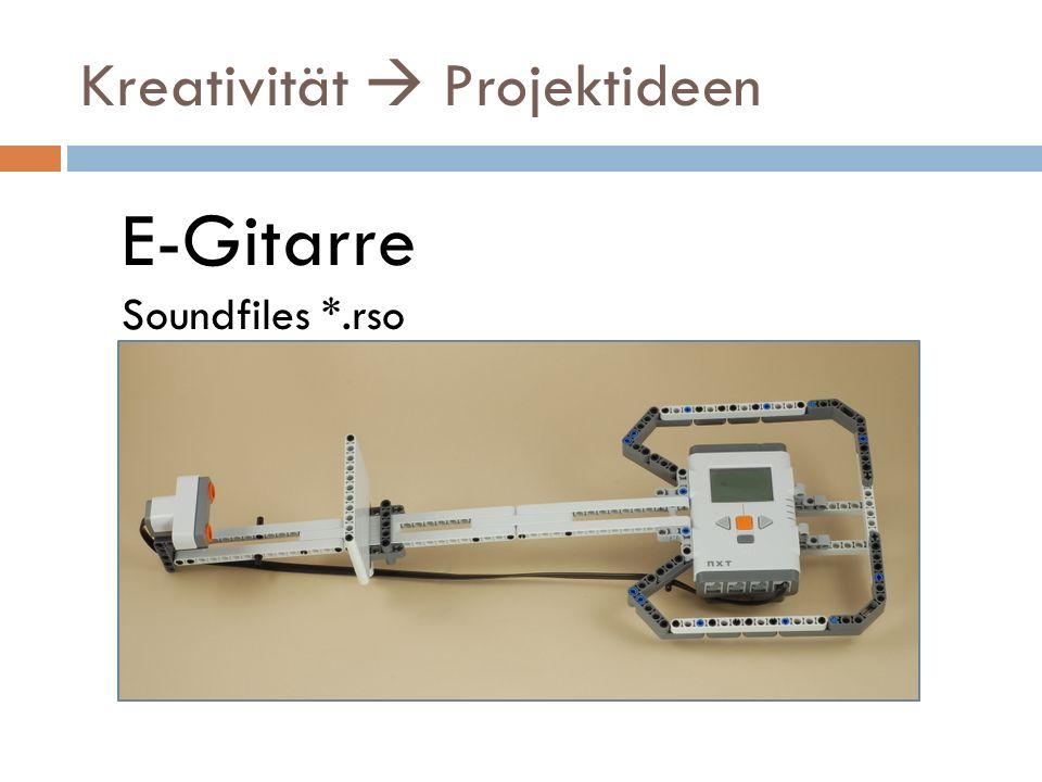 Kreativität Projektideen E-Gitarre Soundfiles *.rso