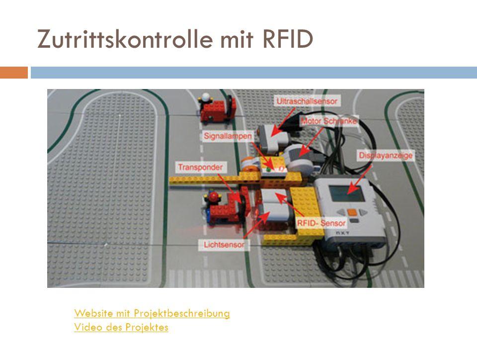 Zutrittskontrolle mit RFID Website mit Projektbeschreibung Video des Projektes
