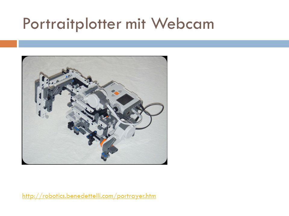 Portraitplotter mit Webcam http://robotics.benedettelli.com/portrayer.htm